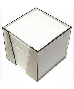 Бумага для заметок куб 90 мм*90 мм*90 мм белая в пластиковой подставке