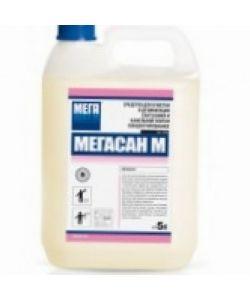 Средство для очистки и дезинфекции сантехники и кафельной плитки  МЕГАСАН-М 5л